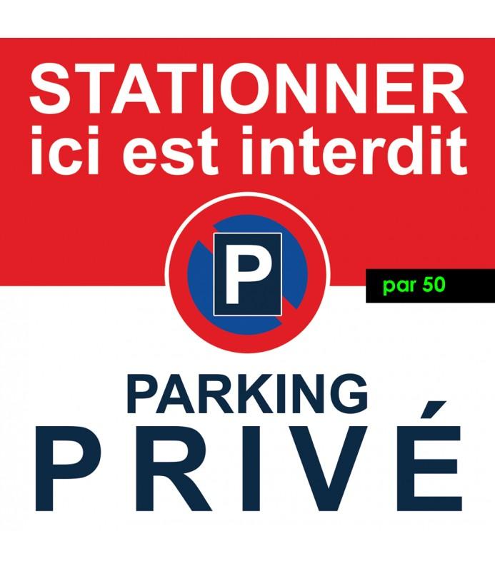 Stationnement interdit sur un parking privé - par 50