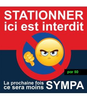 Stickers contre les mauvais stationnements. Vendus par 50