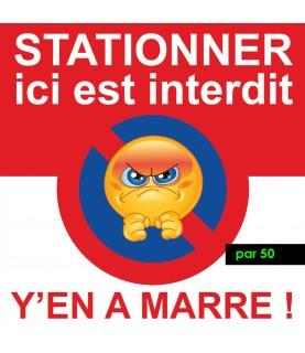 Stickers défense de stationner. Vendus par 50
