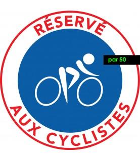 Il est strictement interdit de se garer sur une piste cyclable. Vendus par 50