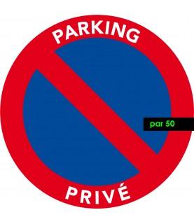 Stationnement illégal sur parking privé. Vendus par 50