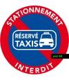 stationnement interdit sauf taxis. Lot de 50 autocollants