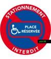 Places réservées aux handicapés. Stickers vendus par 50