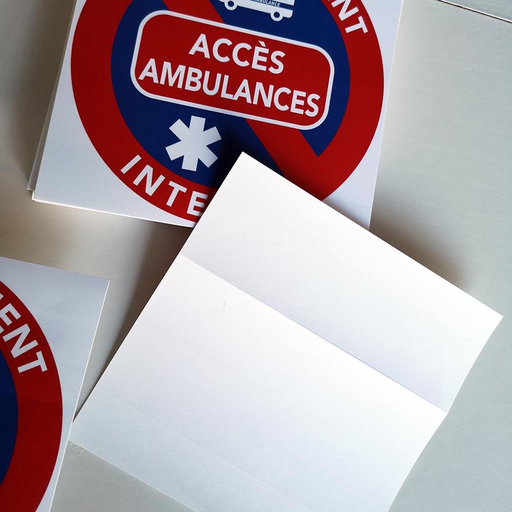 stationnement interdit sur les accès ambulances