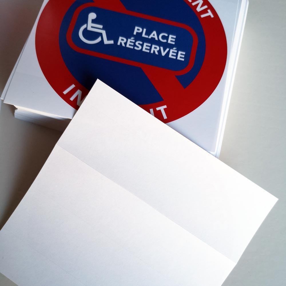 autocollants places réservées aux handicapés